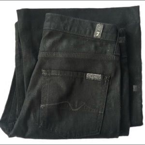 7 for all mankind black wide leg jeans sz 30